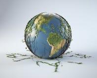 Green Earth symbol Royalty Free Stock Photo