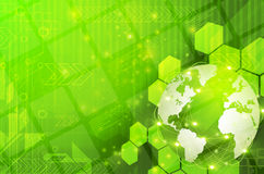 Green Earth technology Background Stock Photography