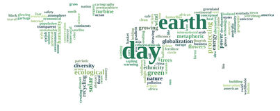 Green earth text graphic and arrangement Stock Photo