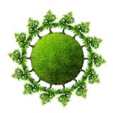 Green earth with trees Royalty Free Stock Photo