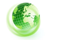 Green earth. On white background Stock Photos