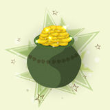 Green earthenware for Happy St. Patricks Day celebration. Royalty Free Stock Photo