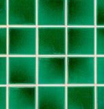 Green earthenware tiles Stock Photos