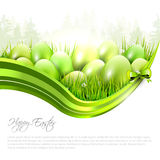 Green Easter background with copyspace Stock Photos