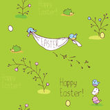 Green Easter background Stock Images