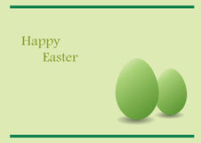 Green Easter card Stock Images