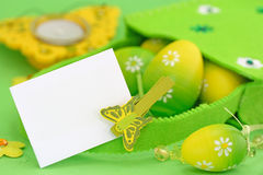 Green easter card Stock Photo