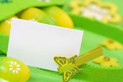 Green easter card Royalty Free Stock Photography