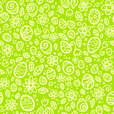 Green Easter doodles vector seamless pattern Royalty Free Stock Photography