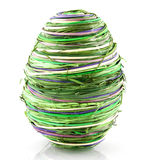 Green easter egg Stock Photography