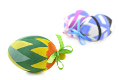 Green Easter egg in focus Royalty Free Stock Photo