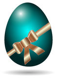 Green easter egg isolated Royalty Free Stock Images