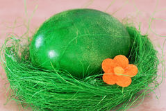 Green Easter egg Royalty Free Stock Photos