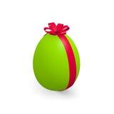 Green Easter egg on white Stock Photo