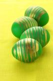 Green Easter eggs Stock Photo