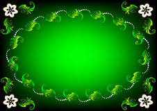 Green Easter flower card Royalty Free Stock Images