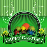 Green Easter greeting Royalty Free Stock Image