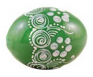 Green Easter romanian traditional egg Stock Image