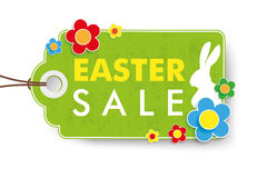 Green Easter Sale Price Sticker. Infographic with price sticker the white background Stock Image