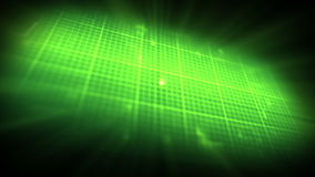 Green ECG on on digtial grid background stock footage