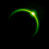 Green eclipse Royalty Free Stock Image
