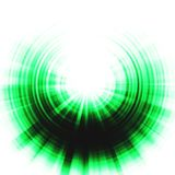 Green eclipse effect Royalty Free Stock Photo