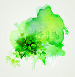 Green eco abstract. Stock Photos