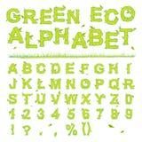 Green Eco Alphabet Royalty Free Stock Photos
