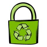 Green eco bag icon cartoon Stock Photo