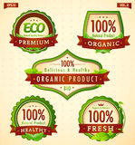 Green eco bio label collection vol. 2 Royalty Free Stock Photos