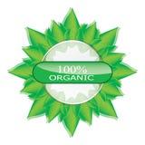 Green, eco, bio and organic label. Stock Photography