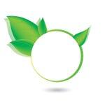 Green, eco, bio and organic label. Royalty Free Stock Image