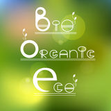 Green, eco,  bio organic product Stock Images