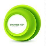 Green eco business emblem Royalty Free Stock Photos