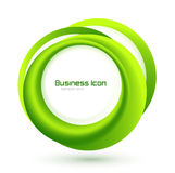 Green eco business emblem Stock Photography