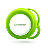 Green eco business emblem Royalty Free Stock Photo