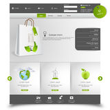Green Eco Business Website Template Stock Image