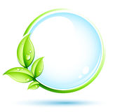 Green eco button Royalty Free Stock Photo