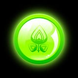 Green eco button Stock Images