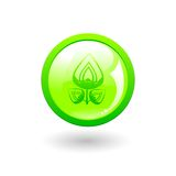 Green eco button Stock Image