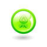 Green eco button stock illustration