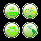 Green eco buttons Royalty Free Stock Images