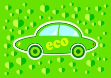 Green eco car Royalty Free Stock Photos