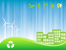 Green eco city Royalty Free Stock Photo