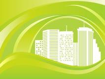 Green eco city Stock Photos