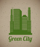 Green eco city Stock Photo