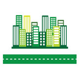 Green eco city Stock Image