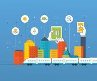 Green eco city infographic. Ecology concept Royalty Free Stock Photography
