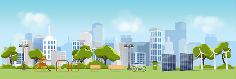 Green eco city and life , relax garden,urban landscape Royalty Free Stock Photography
