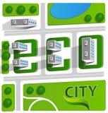Green eco city Stock Photography